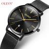 OLEVS Ultrathin Rose Gold Watch For Women Calendar Mesh Steel Strap Wristwatch Dial Quartz Ladies Watches relogio feminino 5869