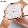 Ladies Watch Brand Luxury Watch Women Gold Stainless Steel Ultra Thin Watches Quartz Auto Date Female Wrist watch relojes mujer