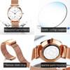 Reloj Mujer Fashion Wrist Quartz Watch Women Black Casual Ladies Dress Watches Rose Gold Mesh Stainless Steel Female Clock Uhr