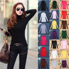 10 Colors Women Sweaters Autumn Winter Wool Turtleneck Jumper Long Sleeve Elastic Basic Tops Shirts Female Solid Slim Pullover