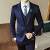 2017 Luxury New Arrival Autumn Formal Mens Suits Wedding Groom Costume Homme Slim Fit British Decent Dinner Suit Grey Blue