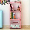 COSTWAY Fashion Simple Non-woven Bookshelves Three-layer Dormitory Bedroom Storage Shelves Bookcase Boekenkast Librero W0108