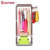 COSTWAY Simple Clothes Coat Rack Bedroom Floor Hanging Clothes Storage Shelves Balcony Multi-functional Drying Racks W0201