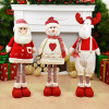 Big Size Christmas Dolls Retractable Santa Claus Snowman Elk Toys Xmas Figurines Christmas Gift for Kid Red Xmas Tree Ornament