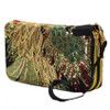 New Women Clutch Bag National Double-sided Peacock Embroidery Purse Canvas Long Wallet Two Zipper Mobile Phone Small Coin Bag