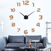 Modern Design 3d Big Wall Clock Home Decor Acrylic Mirror Wall Clock Sticker Living Room Creative reloj de pared Unique Gift
