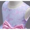 Cielarko Girls Dress Butterfly Princess Pageant Dresses Bow Kids Birthday Party Frock Summer Children Clothing Baby Purple Dress