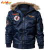 IGLDSI Men's Bomber Pilot Jacket Winter Parkas Army Military Motorcycle Jacket Cargo Outerwear Air Force Army Tactical coats 4XL