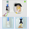 1 Set 5 Creative Automatic Toothpaste Dispenser Toothbrush Holder Plastic Lazy  Bathroom Shelves Bathing Accessories 3 Colors