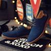 2017 Hot Sale Fashion Men Suede Leather Casual Shoes men spring autumn tide brand Designer Casual Men Shoes Lace Up Shoes Men