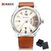 2017 New Sport Men Watch Luxury Brand CURREN Quartz Relogio Masculino Fashion Military Watches Genuine Leather Clock Men