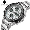 WWOOR Military Watches Men 2017 Army Waterproof Luminous Alarm LED Analog Stop Quartz Wristwatch Male Clock Relogio Masculino