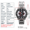 New luxury brand watches men  leisure multi-function mens quartz wrist watch relojes hombre waterproof 100m CASIMA#8103