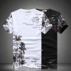 2017 New Fashion Summer Short Sets Men Casual Coconut Island Printing Suits For Men Chinese Style Suit Sets T Shirt +Pants 5XL