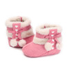 Sweet Baby Girl Shoes Winter Snowfield Booty Princess Newborn Toddler First Walker Babe Kids Cute Ball Footwear