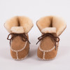New Keep warm winter Genuine Leather Wool fur baby boy boots toddler girls soft Moccasins shoes with plush Sheepskin booties