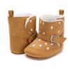 Winter Warm Baby Booties Fur Leather Spot Snow Boots Sapatos Infantil  Newborn Infant Soft  Anti-Slip Soled Toddle Shoes