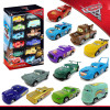 12 Piece Plastic Disney Pixar Cars 3 Model Car Toys Gift Box Set Lightning McQueen Storm Jackson Car Toy Boy Christmas Present