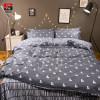 Sookie Geometric Print Bedding Set 4pcs King Size Duvet Cover Set Modern Home Comforter Bedclothes 100% Cotton Soft Bed Linen