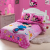 New high quality home children bedding set of Minnie, 2 pillow case, 1 bed sheet and 1 duvet cover
