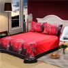 100%Cotton Marilyn Monroe Rose 3D Bedding Sets  Queen Size For Girls Room Christomas gift  Bed Sheet Duvet Cove 4PCS Bed Set