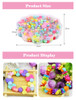 492pc Kids DIY Beads for Jewelry Making Toys for Girls Decoration Crafts Material  Kit Oyuncak Creativity Bead Hobby Children