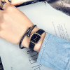 2019 antique vintage small Women Watches fashion Quartz Ladies watch leather brown black Retro Wrist Watch female bracelet watch