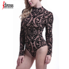 IDress Hot Bodies See Through Sexy Bodysuit Women Rompers Bodycon Jumpsuit Transparent Bodysuits Women Long Sleeve Mesh Bodysuit