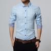 New Autumn Fashion Brand Men Clothes Slim Fit Men Long Sleeve Shirt Men Plaid Cotton Casual Men Shirt Social Plus Size M-5XL