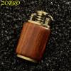 Zorro Petrol Lighter Gasoline Wooden Made Material Kerosene Cigarette Lighter  Oil Petrol Refillable