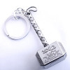 Marvel Avengers Thor's Hammer Mjolnir Keychain New Pewter Keyring Toy Thor Chain Ring Key Men Jewelry Fans Accessory