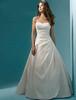 Elegant Strapless Sequin Beading Vestidos De Novia Satin Backless Pleated A-Line Maxi Wedding Dresses Robe Marriage Bridal Gowns