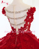 Jark Tozr Real Picture Shiny Crystal Bow Appliques Pearls Red Flowers Bridal Ball Gown Wedding Dress With Petticoat 2018 Mariage