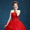 4 Design Fashion Classic 2017 New Strapless Cheap White Pink Red Embroidery Wedding Dress Romantic Bride Dress Vestidos De Noiva