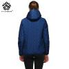 hydiber Long Sleeve Diamonds Partern Artificial Fleece inside Hooded Short Winter Coats Women Autumn outwear Girls Tops Jackets