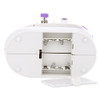 Mini Electric Handheld Sewing Machine Dual Speed Adjustment with Light Foot AC100-240V Double Threads Pendal Sewing Machine