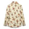 2017 New Fashion Lip Print Chiffon Blouse&Shirt Fashion Long Sleeve V-Neck Blouse Shirt Autumn Office Lady Women Tops And Blouse