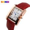SKMEI Brand Women Fashion Casual Quartz Watch Elegant Retro Lady Watches Female Red Leather Strap Relogio Feminino Wristwatches