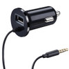 Bluetooth Aux Wireless Car Kit Music Receiver 3.5mm Adapter Handsfree LED Car AUX Speaker with USB Car Charger For Phone 6 7 New