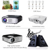 Vivicine LED 1080p Projector RD817,Optional Android Bluetooth WIFI,3500 Lumens,HDMI USB PC TV Multimedia Video Proyector Beamer