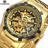 2018 Hot selling Fashion Gold Mens Watches Luxury Brand Automatic Skeleton Watches Man Mechanical Watch relogios masculinos