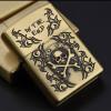 New style Cigarette Accessories Portable bronze color oil lighter Cheaper Emboss characters Kerosene lighters