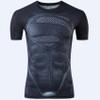 New Fitness Compression Shirt Men Anime Superhero Punisher Skull Captain America Superman 3D T Shirt Crossfit tshirt