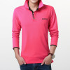 2018 Fashion Brands Polo Shirt Embroidered Logo Breathable Casual Polos Long Sleeve Polo Shirts For Men Slim Fit Size 3XL imported