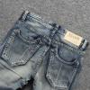 2018 Fashion Designer Men Jeans Slim Fit Blue Color Cotton Denim Pants Ripped Jeans For Men Patch Design Classical Jeans homme
