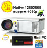 Newest Upgrade LED projector HD with WIFI Mini PC Support 1920x1080 Home theater projector Android TV Proyector