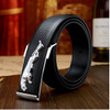 high-end men's leather belt Jaguar British fashion new men casual leather belt buckle Quality men business leather pant belts