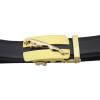 Golden Designers Luxury Cowhide Brand Genuine Leather Automatic Buckle Belt for Mens High Quality Jaguar Ceinture Homme Orange