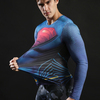 Compression Marvel T shirts Long Sleeve Fitness Top Superman Printed Tshirts Superhero Tees Crossfit Bodybuilding Tees 2018