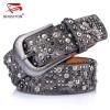 DINISITON Rivet Belt  Fashion Rhinestone Men&Women's Studded Belts High Quality Male Leather Rock Women Strap  Hip Hop CM002